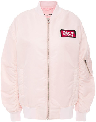 McQ Appliqued Shell Bomber Jacket