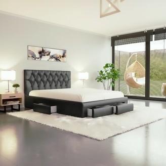 Orren Ellis Addilynne Tufted Upholstered Low Profile Storage Platform Bed Size: Full