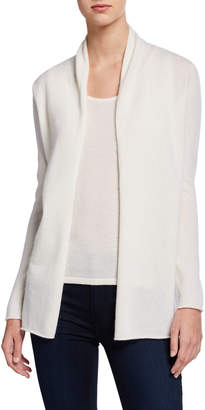 Neiman Marcus Cashmere Draped Long Sleeve Cardigan