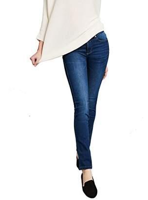 H.I.S Women's Marylin Slim Jeans, (Advanced Medium Blue Wash 9382), 34W x 34L