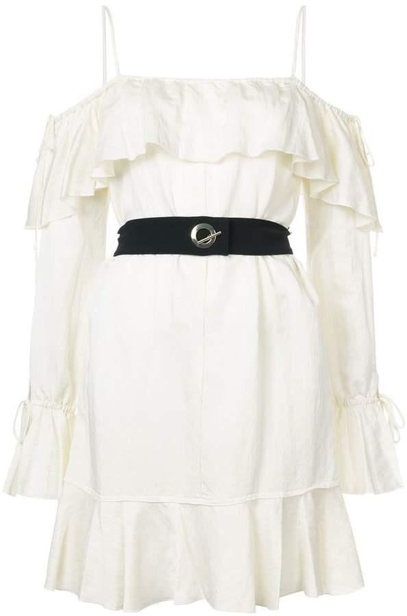 Derek Lam 10 Crosby Off The Shoulder Ruffle Cami Dress