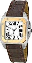 Cartier Men's W20107X7 Santos 100 Leather Strap Watch