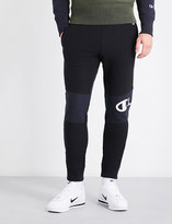 Champion Logo-embroidered mid-rise cotton-jersey jogging bottoms