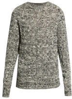 Denis Colomb Crew-neck open-weave cashmere sweater
