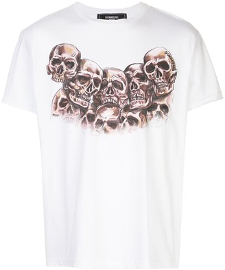 Dom Rebel skull-print crew-neck T-shirt