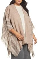 Eileen Fisher Plus Size Women's Wool Blend Poncho Wrap