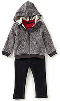 Nautica Baby Boys 12-24 Months Zip-Front Hoodie Jacket, Tee & Jeans Set