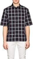 Helmut Lang Men's Plaid Cotton Short Sleeve Shirt