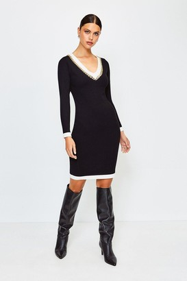 Karen Millen Chain Insert Knitted Dress