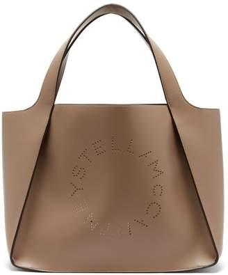 Stella McCartney Stella Perforated-logo Faux-leather Tote Bag - Womens - Tan