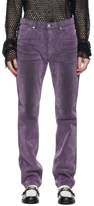 John Lawrence Sullivan Purple Flocked Denim Jeans