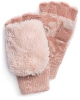 Muk Luks Women's Rose Fingerless Flip Mitten