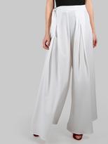 Shein Wide Leg Tie Palazzo Pants WHITE