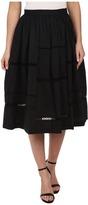 Nicole Miller Poplin Trim Full Skirt