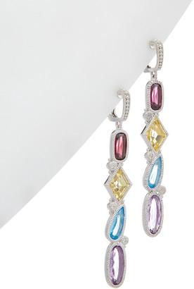 Judith Ripka Rio Silver 10.30 Ct. Tw. Gemstone Cz Earrings