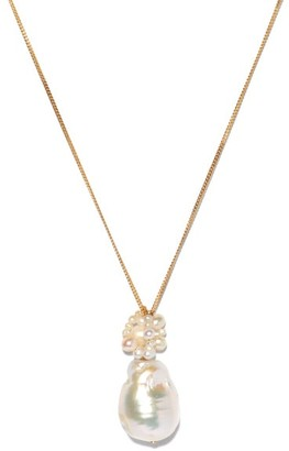 COMPLETEDWORKS No Easy Answers Pearl & 14kt Gold-vermeil Necklace - Pearl