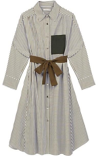 Maje Rilula Mixed Stripe Shirtdress