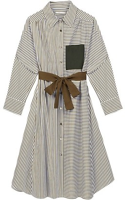 Maje Rilula Mixed Stripe Shirtdress