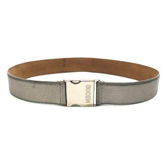 Moschino Silver Leather Belts