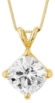 Charles & Colvard Forever Brilliant 2.80 CT. T.W. Forever Brilliant® Cushion Moissanite Solitaire Prong Set Pendant in 14K Yellow Gold