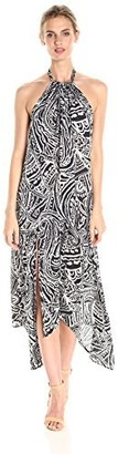 Green Dragon Women's Paisley Swirl Santa Cruz Midi Dress