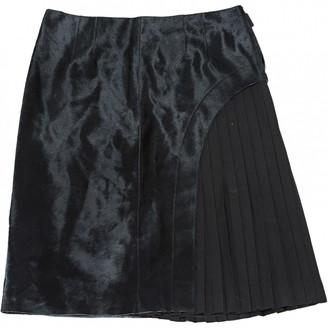 Fendi Black Leather Skirts