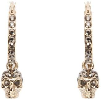 Alexander McQueen Embellished Brass Earrings