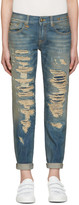 R 13 Blue Relaxed Skinny Jeans