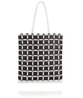 Alexander Wang Dome Stud Cage Shopper In White