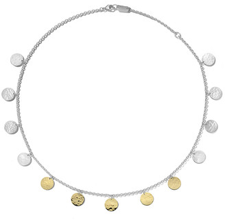Ippolita Classico Hammered Paillette Disc Necklace in Chimera Two-Tone