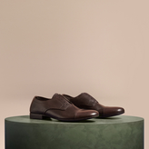 Burberry Washed Leather Derby Shoes