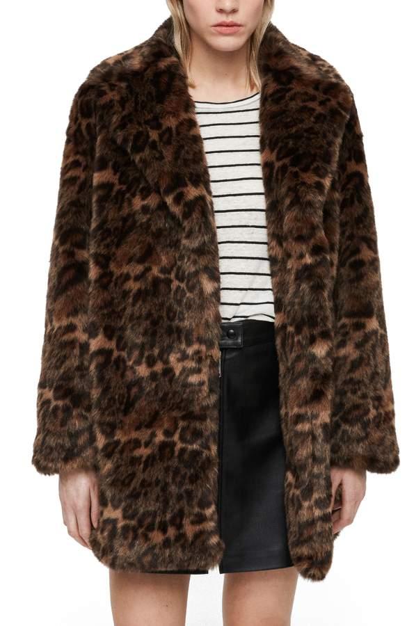 Amice Leopard Spot Faux Fur Jacket