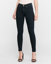 Express Mid Rise Supersoft Dark Wash Jean Ankle Leggings