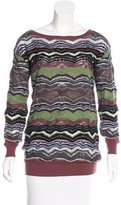 M Missoni Abstract-Patterned Long Sleeve Sweater