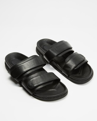 James Smith JAMES | SMITH - Women's Black Strappy sandals - Izano Slides - Size 36 at The Iconic