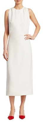 Helmut Lang Cutout Popover Midi Dress