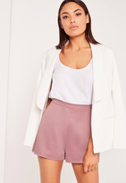 Missguided Satin Shorts Lilac