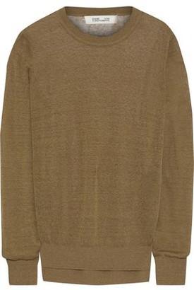 Diane von Furstenberg Kayla Slub Linen-blend Sweater