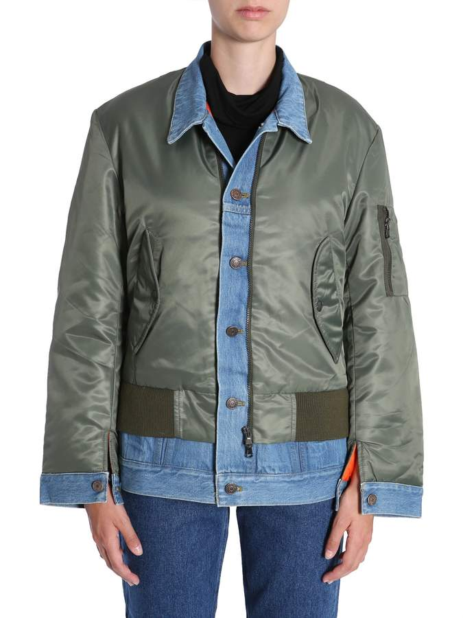 Couture Forte Bomber Jacket With Denim Insert
