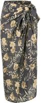 Sir. Lita floral sarong skirt