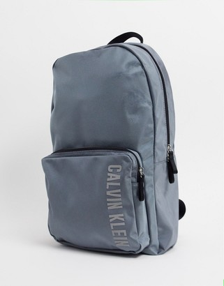 Calvin Klein logo backpack in pewter