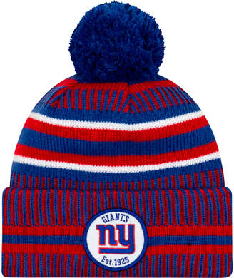 New Era New York Giants NFL Home Striped Sideline Beanie Hat