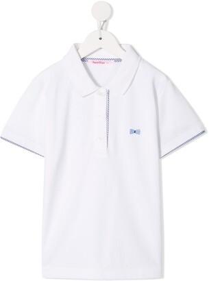 Familiar Bow Print Polo Shirt
