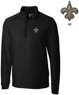 Cutter & Buck Men's New Orleans Saints 3D Emblem Jackson Overknit Quarter-Zip Pullover