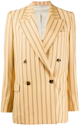 Acne Studios striped double breasted blazer