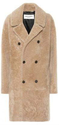 Saint Laurent Beige Shearling Coats