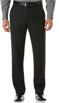 Perry Ellis Portfolio Classic Fit Sharkskin Flat Front Dress Pants