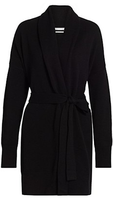 Co Essentials Wool & Cashmere Shawl Collar Belted Cardigan