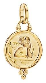 Temple St. Clair Angel 18K Yellow Gold Medium Pendant