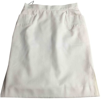 Givenchy White Cotton Skirt for Women Vintage